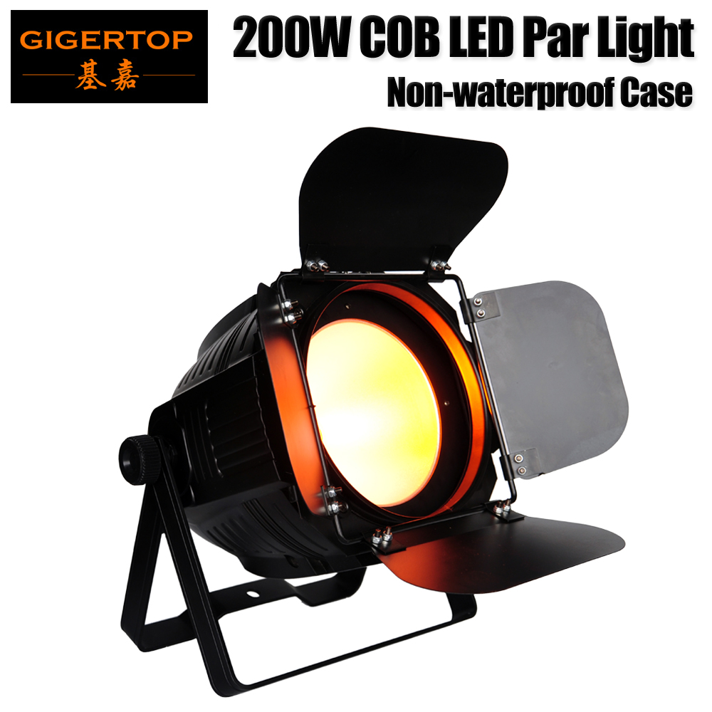 Freeshipping Gigertop TP-P61 200W Barndoor COB Led Par Light Professional DMX Stage UpLighting No Noisy Fan Working LCD Display freeshipping 10in1 charging flightcase packing 12 18w stage wireless battery flat led par light rgbaw uv 6in1 uplighting par can