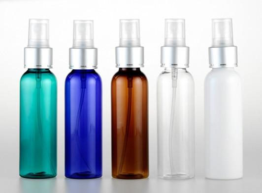 50pcs/lot 60ml Spray Bottle Sprayer Small Spray Bottle With Anodized Aluminum Pump