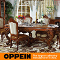 Luxury Solid Wood Long Dining Table With Carving Underframe OT-0314093