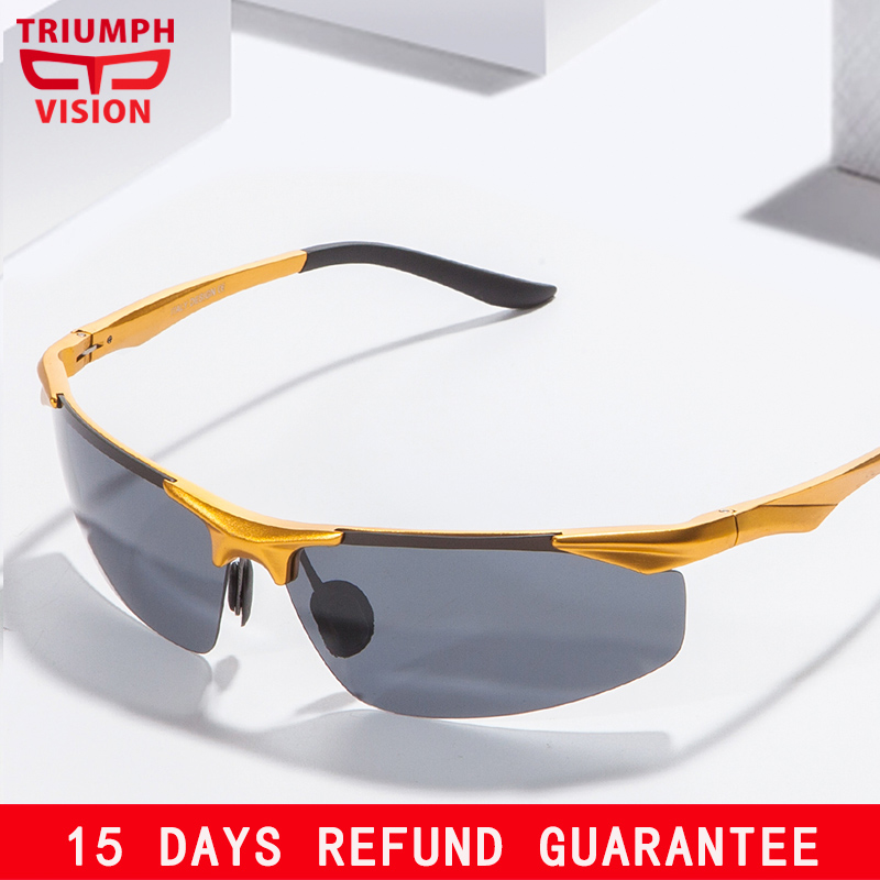TRIUMPH VISION Aluminium Magnesium Polarized Driver Sun Glasses for men Memandu Polaroid Lelaki Sunglasses Lelaki Cool Lunette
