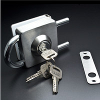 High quality Square single door Glass door locks Home Office door latch keys professional lock picks