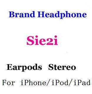 Sie2i auriculares/micrófono del auricular control de volumen para el iphone/ipad/ipod, 3.5mm En La Oreja Los Auriculares/Auriculares/Auriculares Paquete Al Por Menor