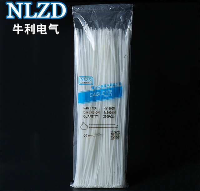 Self locking Nylon Cable Ties 0.5m(20inch) Zip tie Width 4.8mm ...