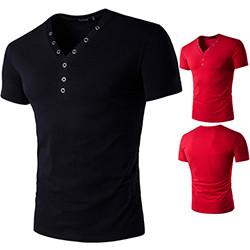 Male-2017-Short-Sleeve-Fake-Two-T-Shirt-V-Neck-Slim-Men-T-Shirt-Camisetas-Fashion