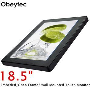 Obeytec 18,5 дюймовый ЖК-емкостный сенсорный экран с открытой рамкой, PCAP Touch, Мульти 10 точек, 16:9, IP65 антивандальный, 1366*768