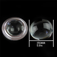 150mm 1pcs Clear Crystal Glass Half Ball Paperweight Crafts Sphere Fengshui Ornaments Home Decoration Figurines Souvenir Gifts