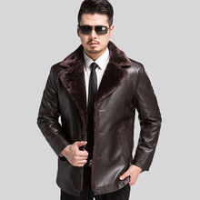 Russian Winter Men's Brand Leather Jacket High Quality Thick Warm Liner Coat Winter Jackets For Men Jaqueta De Couro