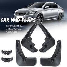 Car Fender For Peugeot 301 2013 2014 2015 2016 2017  2018 2019 Splash Guards Mud Flaps Mudguards Mudflaps
