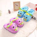 2017 winter baby girls boys cartoon emoji home slippers for children red blue little kids plush cotton warm slipper indoor FH162