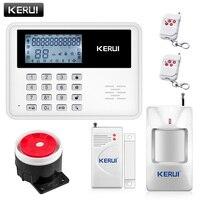 New Large LCD Display GSM Network Home Security Burglar Alarm System PIR Motion Detector Door Sensor