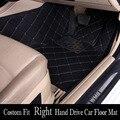 AJUSTE PERSONALIZADO 5D RHD right hand drive alfombra del piso del coche para TOYOTA RAV4 Alphard Corolla Corona Highlander Sequoia Zelas Camary Corolla
