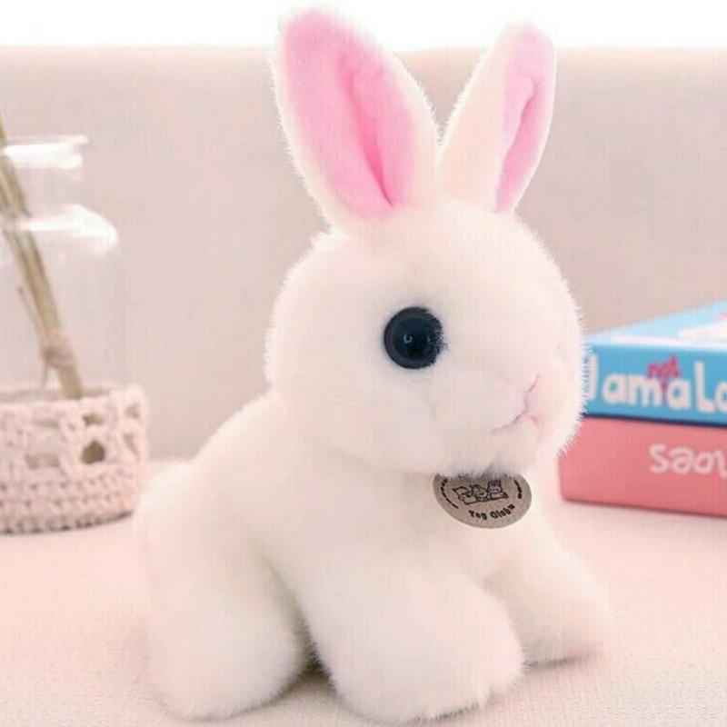 Cute Long Ears White Rabbit Plush Toy Hare Birthday Gift -4933
