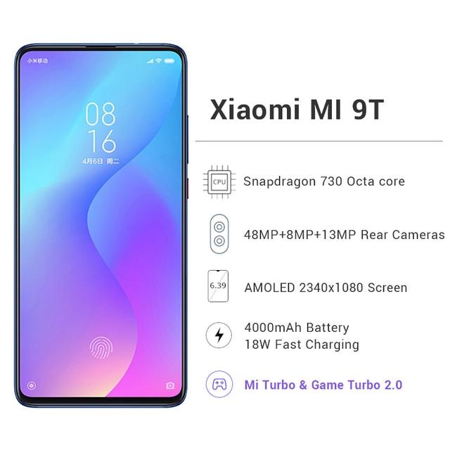 "Global Version Xiaomi Mi 9T (Redmi K20) 6GB 128GB/64GB Smartphone Snapdragon 730 Octa Core 6.39"" AMOLED Screen 48MP Camera"