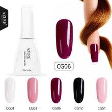Azure Beauty 5Pcs/Lot Gel Polish Nail Art Set Soak Off Red Color Led Nail Varnish Lacquer Manicure Kits Semi Permanent UV Gel
