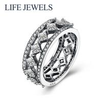 Authentic100 % 925 пробы серебро Австрия циркон кольца шарма l Для женщин Роскошные стерлингового серебра подарок на день Святого Валентина ювелирн