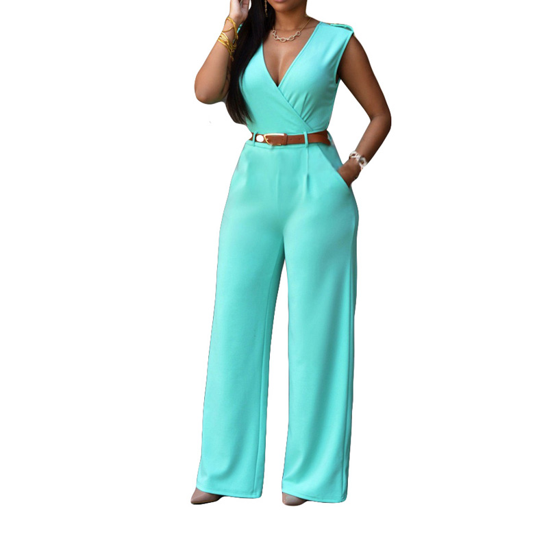 Dropship CTFZ00107 Women New Fashion Rompers And Jumpsuits Women Sexy Backless Sleeveless Bodysuits Elegant Knitted Jumpsuits