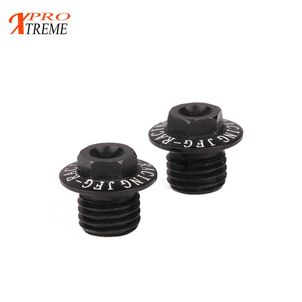 CNC 2x M10 x 1.25 Anodized Mirror Hole Plug Screw Caps Universal For Motorcycle