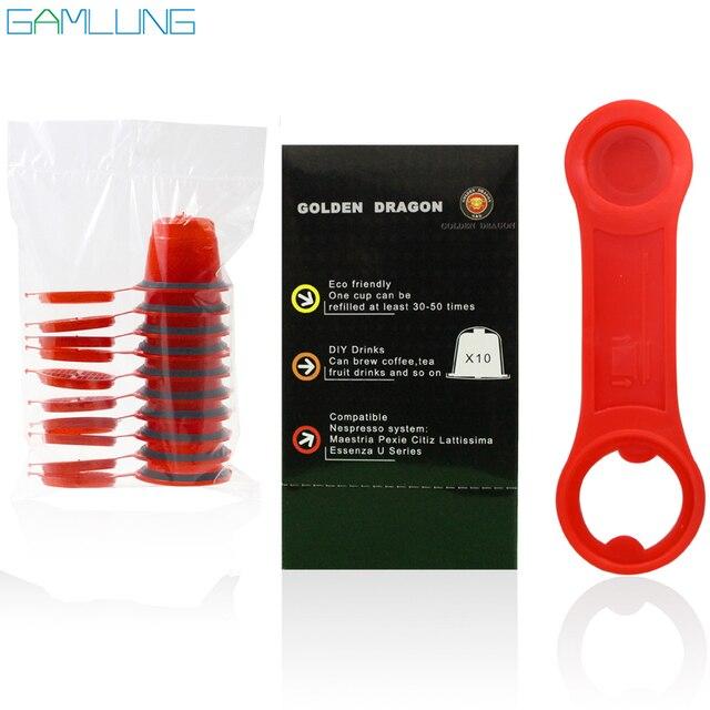 Gamlung Brand 10pcs per lot  Espresso refillable Coffee Capsule compatible nespresso