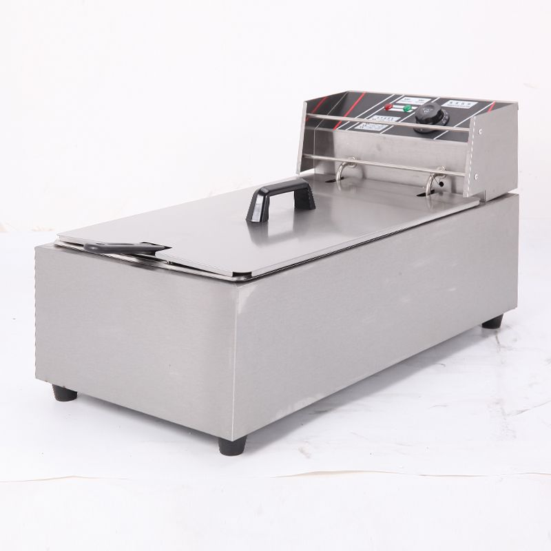 Long paragraph counter top flat fryer kitchen fryer stainless steel electric 12L deep fryer