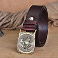Himunu Vintage Do Old God Turtle Grain Inlaid Jade Brass Plate Buckle Luxury Belt  High Quality Smooth Buckle Leather  Belts Wxh