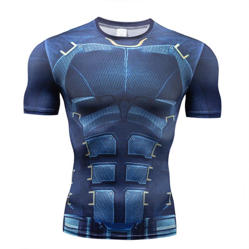 2018 Marvel 3d Batman Superman Spiderman Laufschuhe T Hemd Männer Jogging T-shirt Kurzarm Fitness Bodybuilding Kompression Shirt