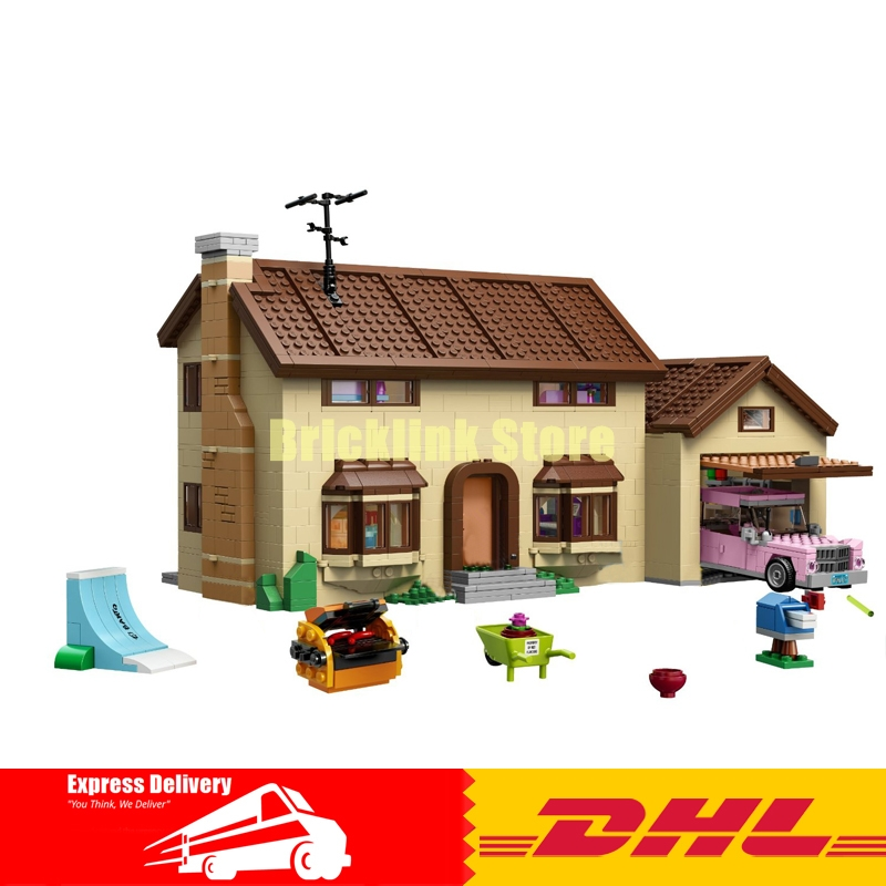 DHL 2575Pcs Lepin 16005 Simpson's family Kwik-E-Mart Set Building Blocks Bricks Educational Toys 71006 Funny Children DIY Gift 2018 moc dhl lepin 16005 simpson s family kwik e mart building blocks bricks set assembled toys gifts clone 71006