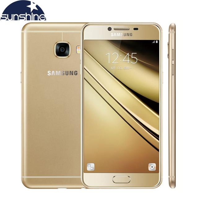"Original Samsung Galaxy C7 4G LTE Mobile Phone Octa Core 5.7"" 16.0MP 4GB RAM 32GB/64GB ROM Dual SIM NFC Android phone"