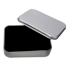 Silver Metal Storage Cigarette Lighter Gift Box Collectable Case Holder Container For Tools Mayitr