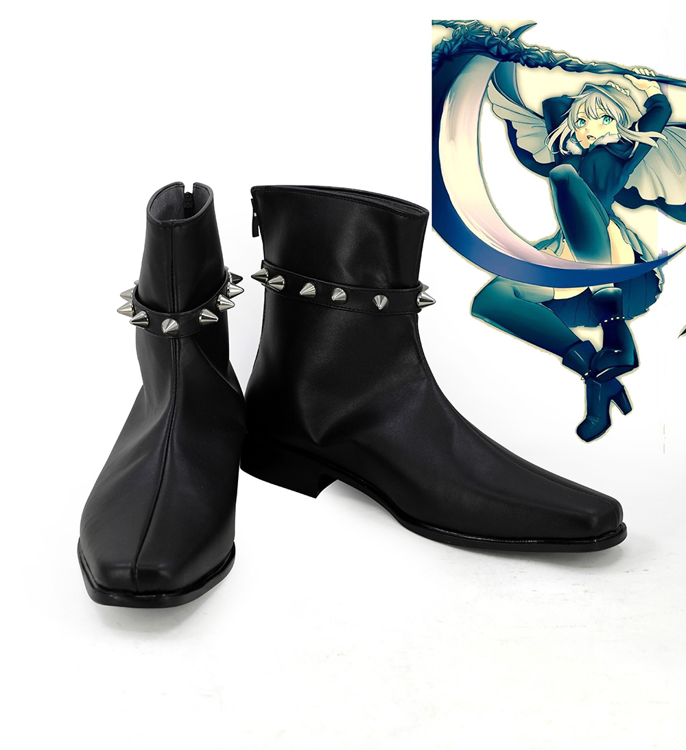 Fast Deliver Lord El-melloi Ii Case Files Gray Gurei Cosplay Boots Black Shoes Custom Made Pure White And Translucent Shoes
