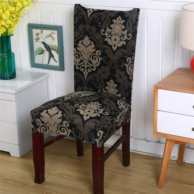 Floral Printing Chair Covers Spandex For Wedding Dining Room Office Banquet Stretch Elastic chair cover housse