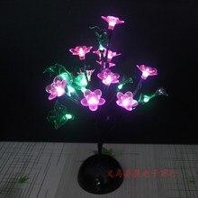 9Pig, 20 светодиодов, пластиковый прикроватный светильник в виде листьев дерева, цветов для спальни, ночник, настольная лампа, украшение дома, имитация дерева, рождественский подарок, игрушки