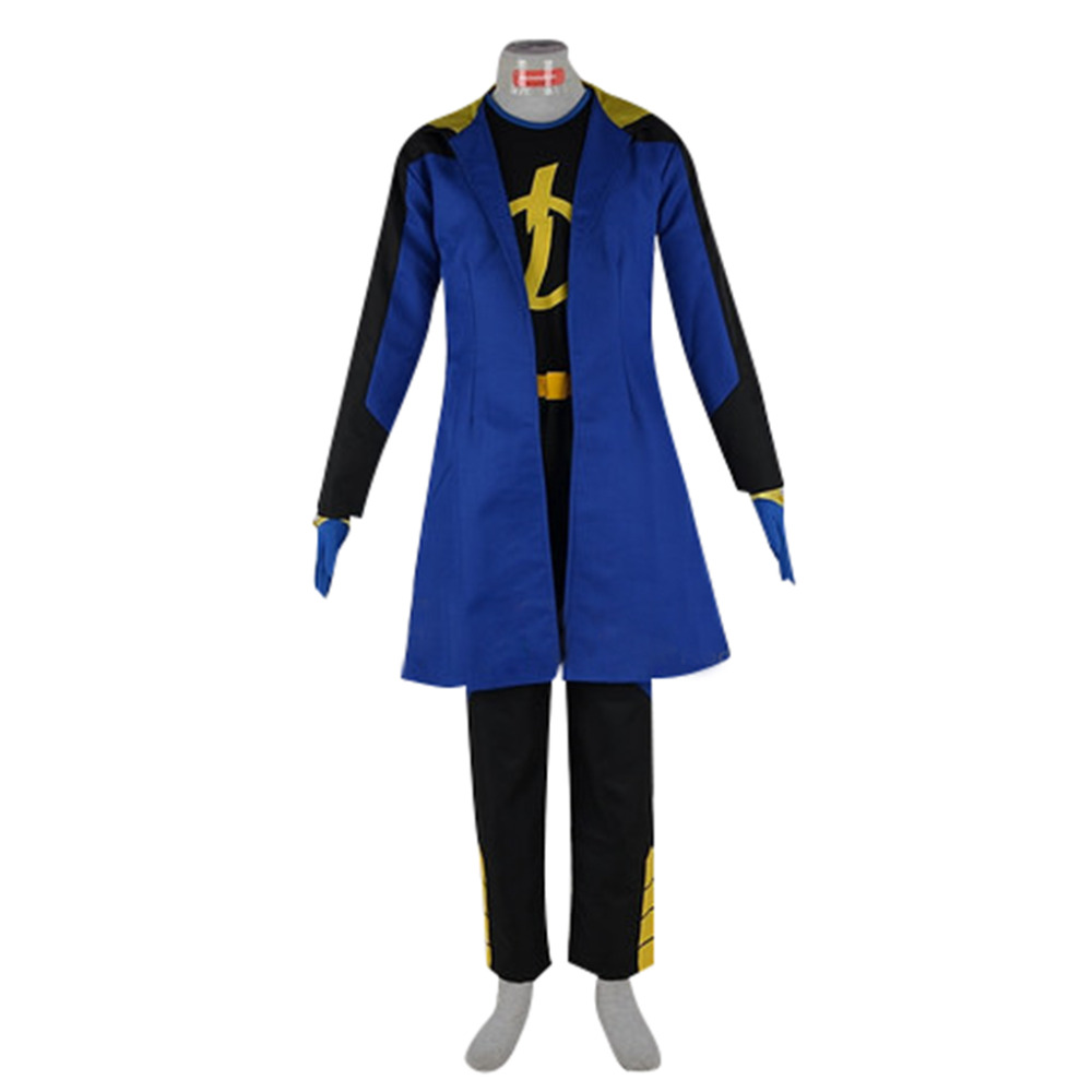 Static Cosplay Costume From Static Shock 2 Men's Halloween Carnival Movie Party Costume Outfit