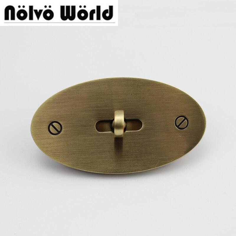 1 Set 73*40mm Repair Turn Lock Standard Antique Silver Color Bolsas Bags Handbags Twist Lock Closured Locks Replacement