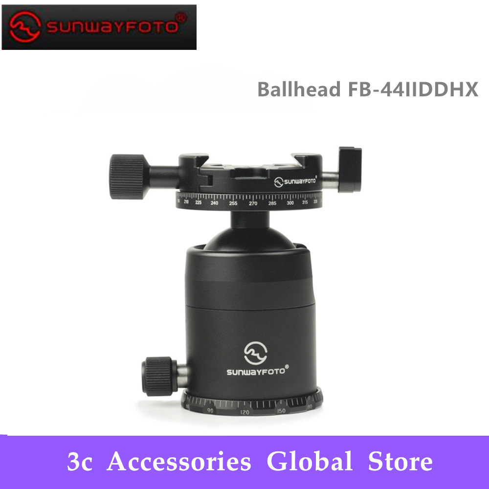 SUNWAYFOTO FB 44IIDDHX Ballhead Pan Base Diameter:57mm Ball Diameter:44mm Net Weight:450g Bottom Thread:UNC3/8&quot 16