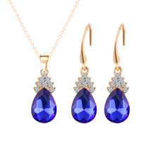 African Jewelry Sets Gold Color Choker necklace set Fashion Wedding Women Bridal Accessories Crystal Earring Necklace Set