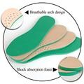 Nueva de cuero de látex ortopédicos plantilla antibacteriana carbón activo Z49201 ortopédicos arch support cojín del zapato empeine de piel de vaca de pie plano