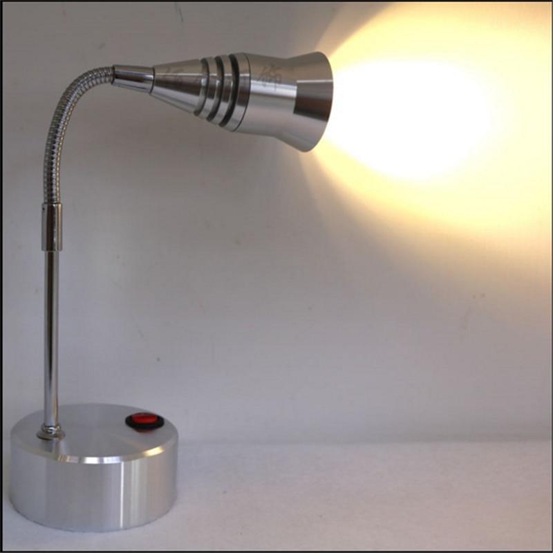 ФОТО 3 years warranty 1W/3W AAA battery pole led spot lamp ,wireless display flexible tube spot lamp,360degree rotary wedding light