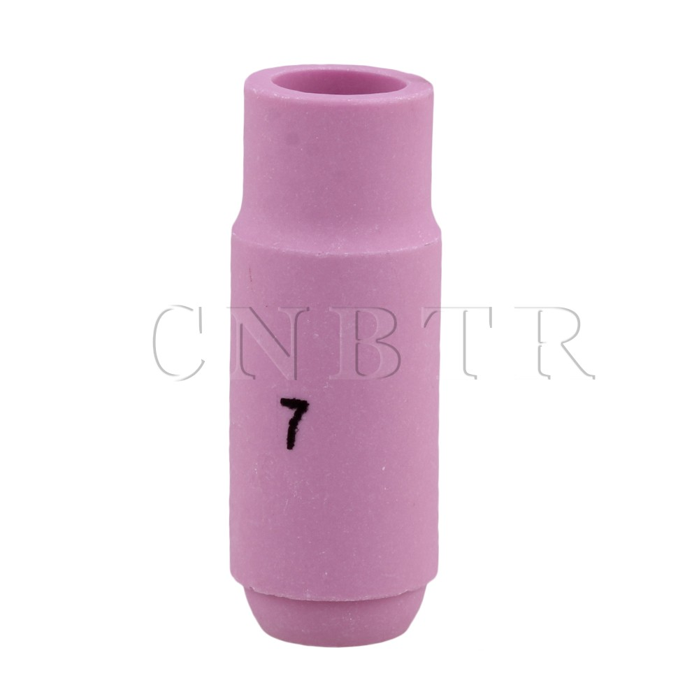 CNBTR Pink Ceramic Cup Nozzles 10N47 7# for TiG Welding Torch WP-17 18 26 wp 17f sr 17f tig welding torch complete 13feet 4meter soldering iron flexible