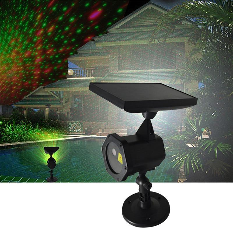 Solar Power LED Laser Projector Chrismas Laser Fairy Lights Projection Waterproof Outdoor Lawn Lamp Spotlight For Garden Decor