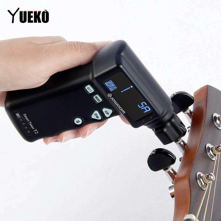 YUEKO T2 Automatique Tuner Guitare tuning Cordes À Puce Tuner Peg Manivelle Acoustique Guitare Électrique Automatique Outil