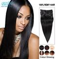 Clip In Unprocessed Virgin Brazilian Hair Black 120g 140g 160g 200g Aplique De Cabelo Humano Natural 20 inches Clip Extensions