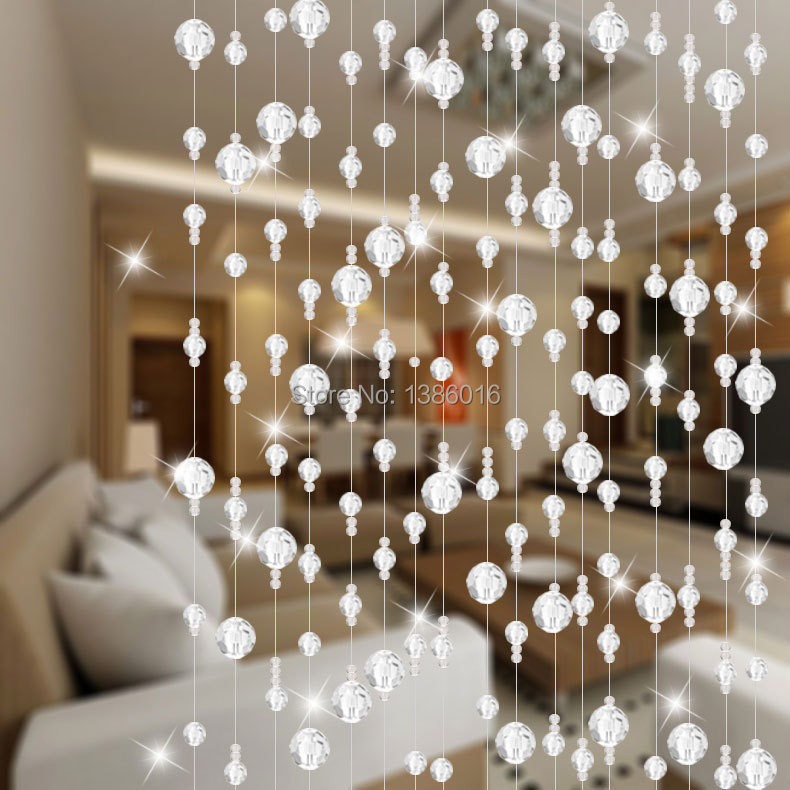 Crystal Bead Curtain Off The Entrance Of Finished Living Room Feng Shui Decorative Wall Hanging