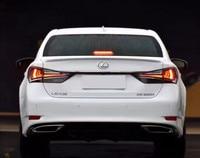 For Lexus GS250 GS300 gs350 Spoiler ABS Material Car Rear Wing Primer Color Rear Spoiler For Lexus GS Spoiler 2014 2018