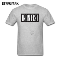 Awesome T Shirts Mavel Iron Fist Symbol Logo Men Round Collar Short Sleeve T Shirt Custom