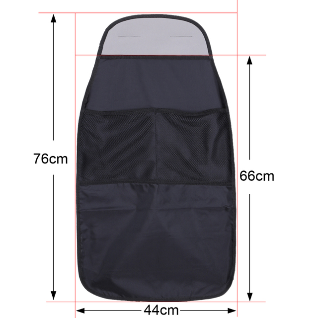 Car Seat Back Protector Cover For Children Kick Mat Mud Clean Car Seat Covers Automobile Anti Child Kick Covers Protector Black