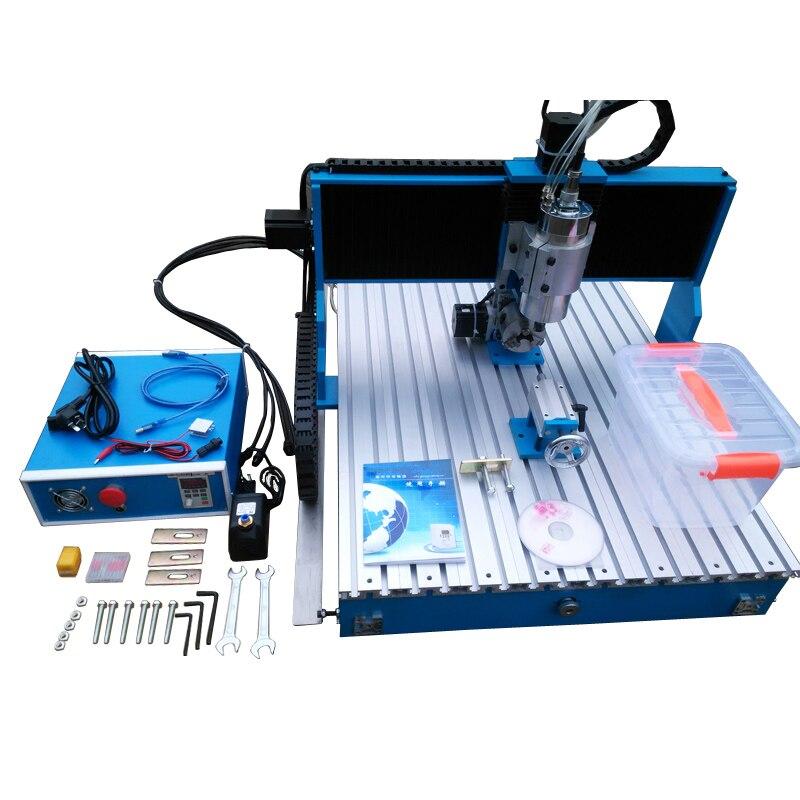 LY CNC 6090 2200W axe linéaire Guide Rail 3 4 axes métal gravure machine bois fraisage routeur