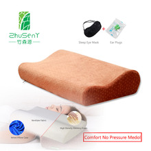 Best Ergonomic Design Neck Pillow Slow Rebound Memory Foam Pillow Cervical Health Care Pain