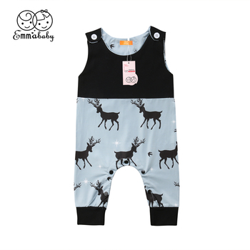 2018 Latest Children's Wear Newborn Infant Kids Baby Boy Girl Deer Patchwork Soft Romper Playsuit Jumpsuit Clothes Outfits 0-24M