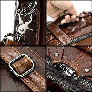 Image 5 - Westal grande capacidade masculino carteiras de couro genuíno negócios sacos de documentos para o portátil de couro bolsa 14 polegada computador saco 433