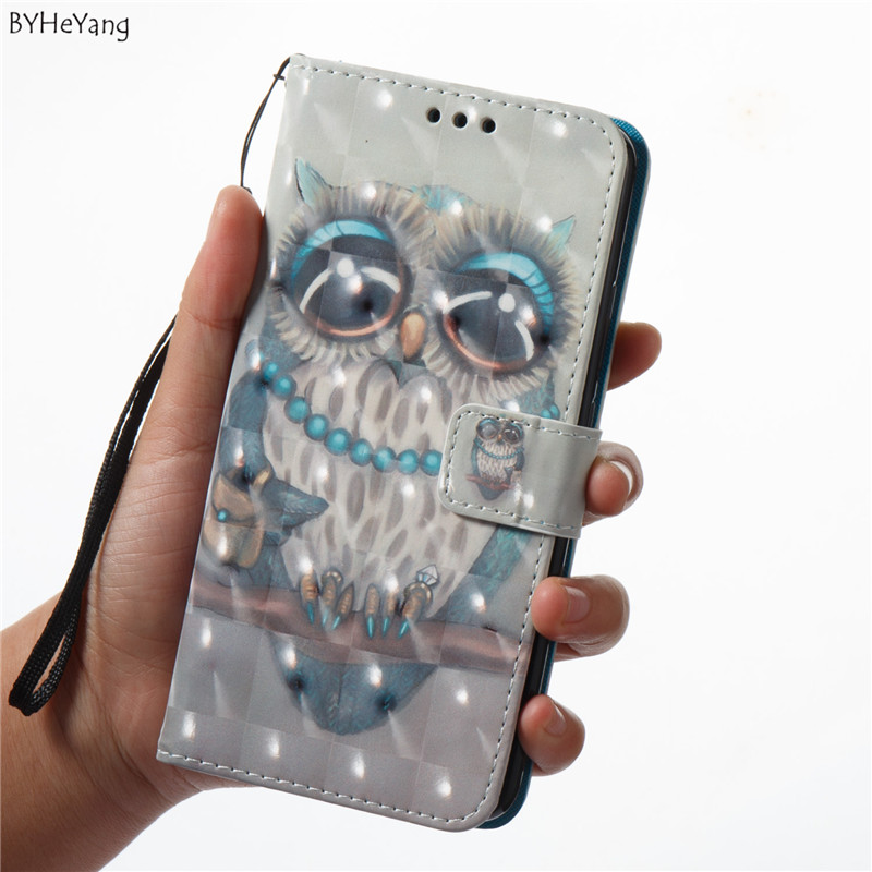 BYHeyang 3D PU Leather Phone case For Huawei Mate 10 Lite case flower Pattern Painted back cover For Huawei Nova 2i wallet case